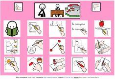 Tablero de comunicación aumentativa con pictogramas de ARASAAC sobre actividades de la clase (lenguaje y plástica). Tens And Ones, Autism Activities, Aspergers, Speech Therapy, Montessori, Education, Comics, Homeschooling, Halloween