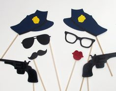Items similar to Cops & Robbers Photo Booth Prop Collection. Wedding Party Props on Etsy Police Retirement Party, Police Party, Retirement Ideas, Retirement Parties, Cop Party, Party Props, Party Ideas, Adult Halloween Party, Pop Culture Halloween Costume