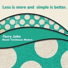Less is more...