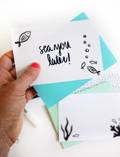 Printable Summer Notecards | Oh Happy Day!