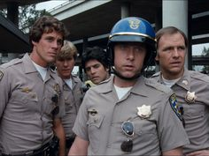 """""""CHiPs"""" Name Your Price Featuring Officer's Grossman, Baricza and SGT Gatrear with Jon and Ponch Larry Wilcox, 70s Tv Shows, Movies And Tv Shows, Police Tv Shows, 1980s Tv, Favorite Tv Shows, My Favorite Things, Cop Show, The Good Old Days"""