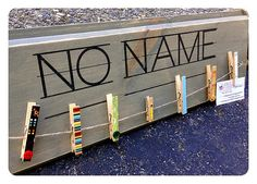 Teacher Classroom sign no name with Clothespins to hang up papers with no names teacher Gift on Etsy, $25.00