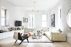 This+Sleek,+Minimal+NYC+Loft+Proves+Scandinavian+Design+Isn't+Going+Anywhere+via+@MyDomaine #apartment #minimalist