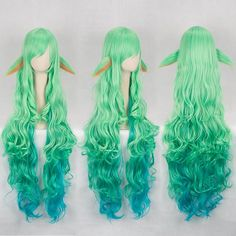 Game League of Legends LOL Ezreal/Soraka/Ahri/Syndra Hair Wig Cosplay Wig Props Cosplay Hair, Cosplay Outfits, Cosplay Wigs, Cosplay Costumes, Pelo Lolita, Lolita Hair, Kawaii Hairstyles, Pretty Hairstyles, Wig Hairstyles
