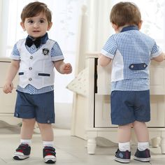 Baby Boy Dress Shirts - Here's a common problem with men's dress shirts now: You've selected one that's large enough to co Baby Boy Dress, Baby Vest, Baby Outfits Newborn, Baby Boy Outfits, Boys Dress Shirts, Shirt Dress, Wedding Outfit For Boys, Baby Boy Christening, Boys Suits