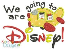 Disney Plane applique embroidery design by Stitcheroo Designs