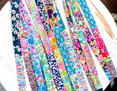 www.novamelina.com  Kids most beautiful lanyards with safety clips. Also available for adults!!   #handmade #OOAK #Liberty #of #London #kids #fashion #lanyard #Finnish #product