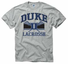 Duke Blue Devils Youth Wide Stripe Lacrosse T-Shirt by NCAA. $16.95. Screen print team lacrosse graphics. Officially licensed by the NCAA. Short sleeve crew neck tee. Made of lightweight breathable cotton. Cheer on your favorite team in this Duke Blue Devils Youth Wide Stripe Lacrosse T-shirt. This cotton tee features quality screen print Duke Lacrosse graphics. Wear this short sleeve crew neck top to the next Blue Devils athletic event with pride! Duke Blue Dev...