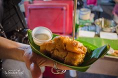 To Eat / Fried Roti with sweet milk / #streetfood