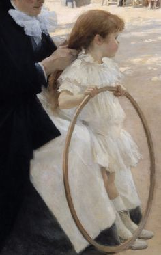 "Detail from ""The Luxembourg Gardens, Paris"" by Albert Edelfelt,1887"