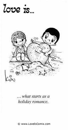 Love Is. what starts as a holiday romance. I thought love would come at the end of a holiday romance! Love Is Sweet, What Is Love, Love You, My Love, Love Is Cartoon, Love Is Comic, Marriage Relationship, Love And Marriage, Godly Marriage