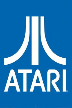 Atari Poster Logo 24x36 Video Game Arcade | eBay