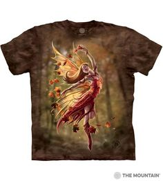 Autumn Fairy Adults T-Shirt by Anne Stokes : The Mountain - 2017 Collection : T-Shirtsauce Australia: The Mountain T-Shirts Anne Stokes, Autumn Fairy, World Famous Artists, Create Photo, Faeries, Vintage Prints, Wearable Art, Tee Shirts, Unisex