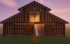 Medieval # Pole # # - Minecraft World Minecraft Wooden House, Minecraft Barn, Minecraft Building Blueprints, Minecraft House Plans, Minecraft Mansion, Easy Minecraft Houses, Minecraft Castle, Minecraft Medieval, Minecraft House Designs