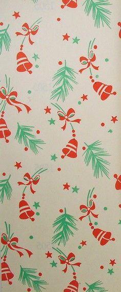 vintage Christmas gift wrap