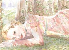 damaBriarRoseDreams Y hay quien dice haber visto, alguna madrugada, descansando sobre la hierba y rodeada de flores y helechos a una mujer muy bella. Cuenta ademas, aunque nadie parece estar muy seguro de ello, que tiene alas de mariposa y que lleva sobre la piel tatuados los pétalos y las hojas de las más hermosas flores.