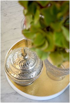 my gold lacquered tray from http://www.nomliving.com/
