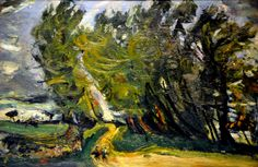 Chaim Soutine - Windy Day, Auxerre at Philips Collection Art Gallery Washington DC