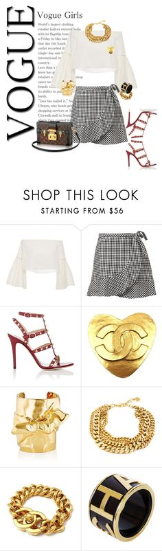 """""""Sin título #69"""" by emmaabou ❤ liked on Polyvore featuring Rosetta Getty, Valentino, Chanel and Jennifer Fisher"""