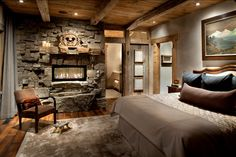 Rustic Bedrooms Design Ideas | Canadian Log Homes #5 Ideas And Design