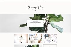 Minimal Wordpress Blog - TheWayIlive by LucaLogos on @creativemarket