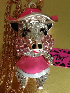 Pretty Puggy Piggy By Betsey Johnson.   On www.ebay.com/peletani7th