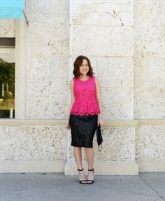 Pink Peplum // Two Ways to Wear