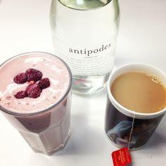 A typical breakfast :) Breakfast Tea, Get Healthy, Panna Cotta, Tableware, Ethnic Recipes, Food, Dulce De Leche, Dinnerware, Dishes
