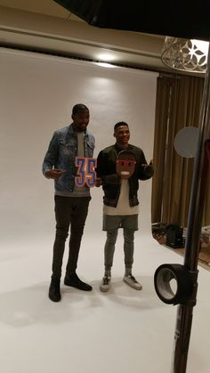 #RussellWestbrook & @okcthunder teammate #KevinDurant stoked about their twitter emojis!