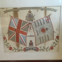 Vintage British Army Framed Embroidery The History of Duke of Edinburgh's Wiltshire Regt. 1756- Raised as 2nd Bn 4th Regiment of Foot 1758 - Became the 62nd Regiment of Foot 1782 - Became the 62nd (Wiltshire) Regiment 1881 - Amalgamated with 99th Duke of Edinburgh's (Lancashire) Regiment to become 1st Bn of  the Duke of Edinburgh's (Wiltshire) Regiment 1921 - Became the Wiltshire Regiment (Duke of Edinburgh's) 1959 - Amalgamated into the Duke of Edinburgh's Regiment  by CrownCottageSomerset