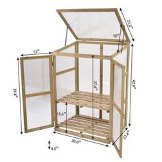 Costway Garden Portable Wooden GreenHouse Cold Frame Raised Plants Shelves Protection - All About Diy Greenhouse Plans, Portable Greenhouse, Greenhouse Effect, Build A Greenhouse, Greenhouse Gardening, Greenhouse Wedding, Diy Small Greenhouse, Cheap Greenhouse, Porch Greenhouse