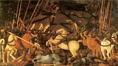 Paollo Ucello - Battle of San Romano, Uffizi Gallery, Florence Italian Renaissance Art, Renaissance Kunst, Lorenzo Ghiberti, Fra Angelico, Painting & Drawing, Painting Frames, Galerie Des Offices, Charles Viii, Rome Antique