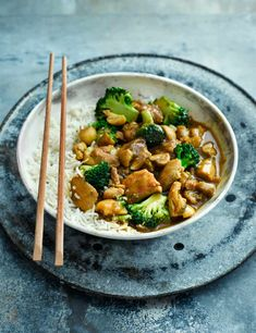 Add white miso and soy sauce to your curry sauce for an umami-rich midweek meal packed with chicken and veggies