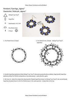 * free pattern by Szuflada  ~ Seed Bead Tutorials