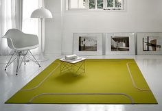 Building a Green Home from the Ground Up - Best Green Flooring Options Carpet Decor, Diy Carpet, Modern Carpet, Modern Rugs, Stair Carpet, Magic Carpet, Modern Living, Green Carpet, Carpet Colors