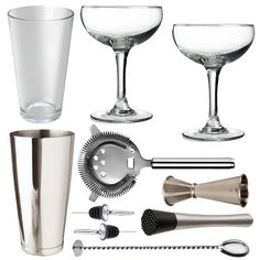 <strong>10 Piece Love Tiki Cocktail Set With Cocktail Coupe Glasses In Presentation Box</strong> – All the tools for the job to make shake andstir your way to cocktail heaven. Ideal for cocktail novices and experts alike. This cocktail set is the perfect starting kitfor all cocktail lovers. This is a stylish and elegant addition to any bar or home and makes a fabulous gift for all keen mixologists.