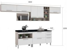 Cozinha Compacta Nesher Class 1 com Balcão - 7 Nichos 7 Portas 4 Gavetas com as melhores condições você encontra no Magazine Nsstoreonline. Confira!
