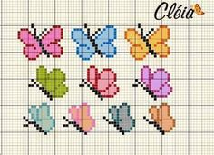 Here you can look and cross-stitch your own flowers. Tiny Cross Stitch, Butterfly Cross Stitch, Cross Stitch Alphabet, Cross Stitch Animals, Cross Stitch Flowers, Cross Stitch Designs, Cross Stitch Patterns, Cross Stitching, Cross Stitch Embroidery