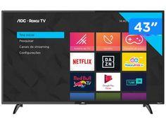 "Smart TV Full HD LED 43"" AOC 43S5195/78G - Wi-Fi 3 HDMI 1 USB - Magazine Mandinha Samsung 4k, Samsung Galaxy, Netflix, Tvs, Smart Tv 4k, Wi Fi, Social Media Measurement, Smartphone, Digital Media Marketing"