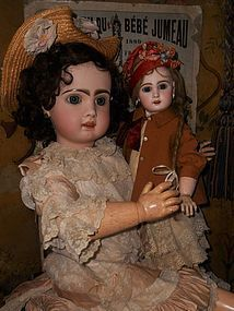 "Beautiful French Bisque Bebe "" Mlle. Jumeau "" Size 8 - WhenDreamsComeTrue #dollshopsunited"