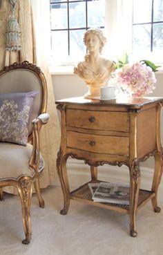 Gold Gilt Emmanuel Bedside Table