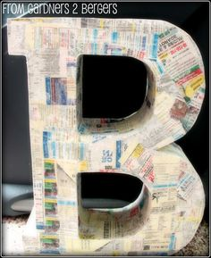 from GARDNERS 2 BERGERS: ✥ DIY Paper Mache Letters ✥ using shirt boxes!!