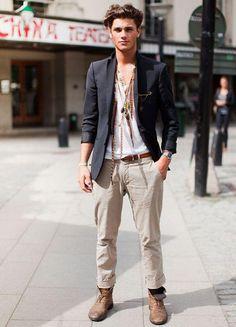 bohemian man outfit Más