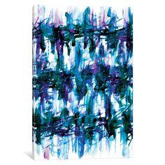 iCanvas 'White Noise - Blues' by Julia Di Sano Canvas Print