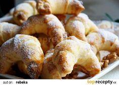 Martinské rohlíčky recept - TopRecepty.cz Pretzel Bites, Bagel, French Toast, Bread, Breakfast, Food, Bonito, Morning Coffee, Brot