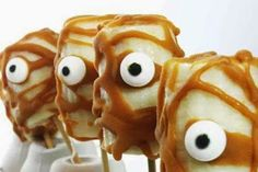 Banana Mummies These frozen desserts are made without gluten, dairy, eggs, soy, or nuts, so they'll appeal to any guest at your Halloween pa...