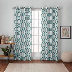Exclusive Home Curtains Kochi Linen Blend Grommet Top Curtain Panel Pair, Teal, 2 Piece Home Curtains, Green Curtains, Grommet Curtains, Window Curtains, Curtain Panels, Country Curtains, Curtains Living, Velvet Curtains, Shabby Chic Farmhouse