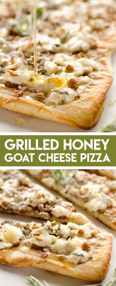 pizza recipes Grilled Honey Goat Cheese Pizza is an easy vegetarian recipe loaded with bold flavors and textures. Creamy goat cheese, sage, pecans and honey come together on a chewy grilled pizza crust for a meal you will want to make again and again! Goat Cheese Pizza, Goat Cheese Recipes, Goat Cheese Bread Recipe, Goats Cheese Flatbread, Mushroom Pizza Recipes, Vegetable Recipes, Pizza Legal, Grilling Recipes, Cooking Recipes