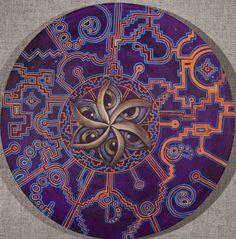Shipibo sacred geometry crop circle art print via Etsy