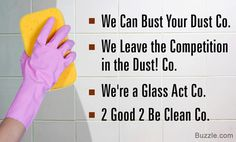 Names for a Cleaning Company